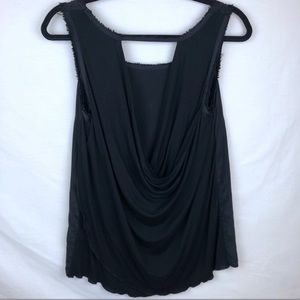 Search For Sanity Silk Top with Open back
